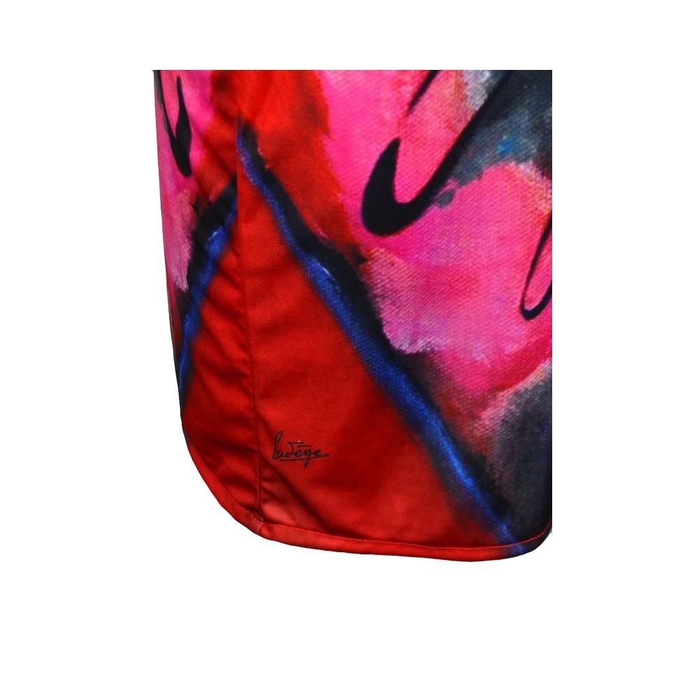 Robe moulante motif peinture cad ne rouge m 39 elle boutique for Motif peinture