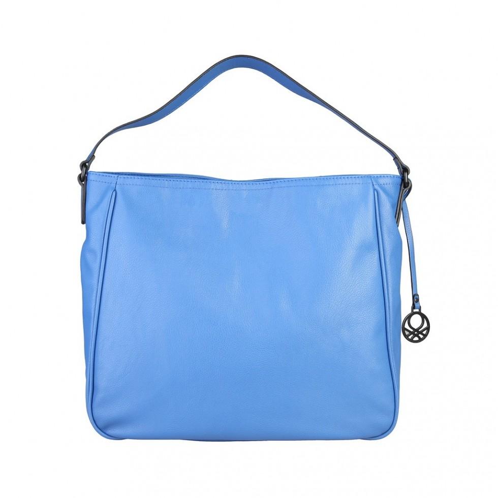 sac main benetton bleu lani re bouton rotatif m 39 elle boutique. Black Bedroom Furniture Sets. Home Design Ideas