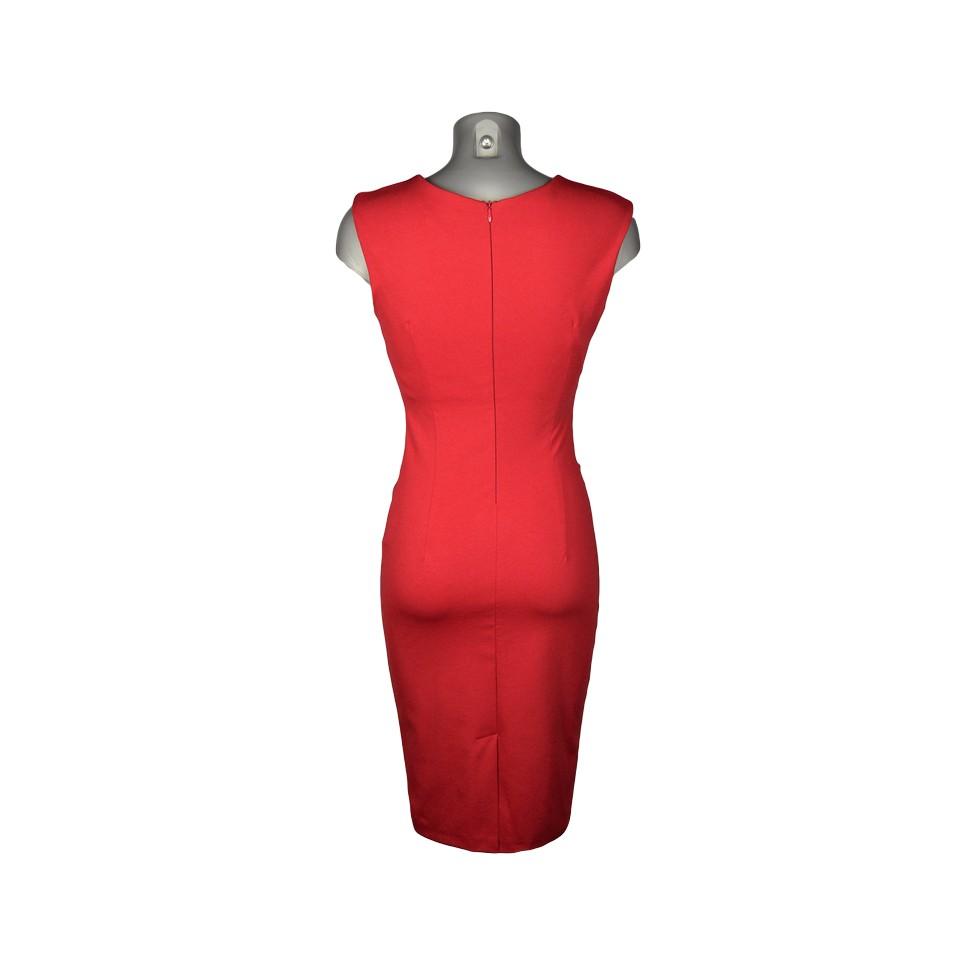 robe crayon devant drap rouge m 39 elle boutique. Black Bedroom Furniture Sets. Home Design Ideas