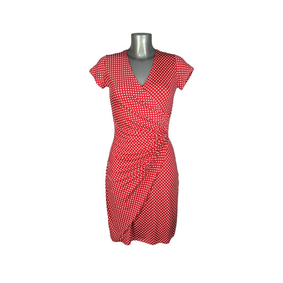 robe cache coeur rouge motif petits pois blancs m 39 elle boutique. Black Bedroom Furniture Sets. Home Design Ideas