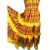 Robe créole bustier broderie anglaise madras jaune et rouge Melle Boutique