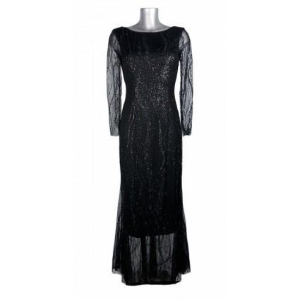 Robe coupe sirène dentelle noire Melle Boutique