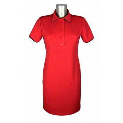 Robe sportswear coupe polo rouge liserets bleu foncé ShowGirls Melle Boutique