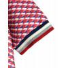 Robe sportswear évasée coupe polo triangles rouges et bleus Melle Boutique