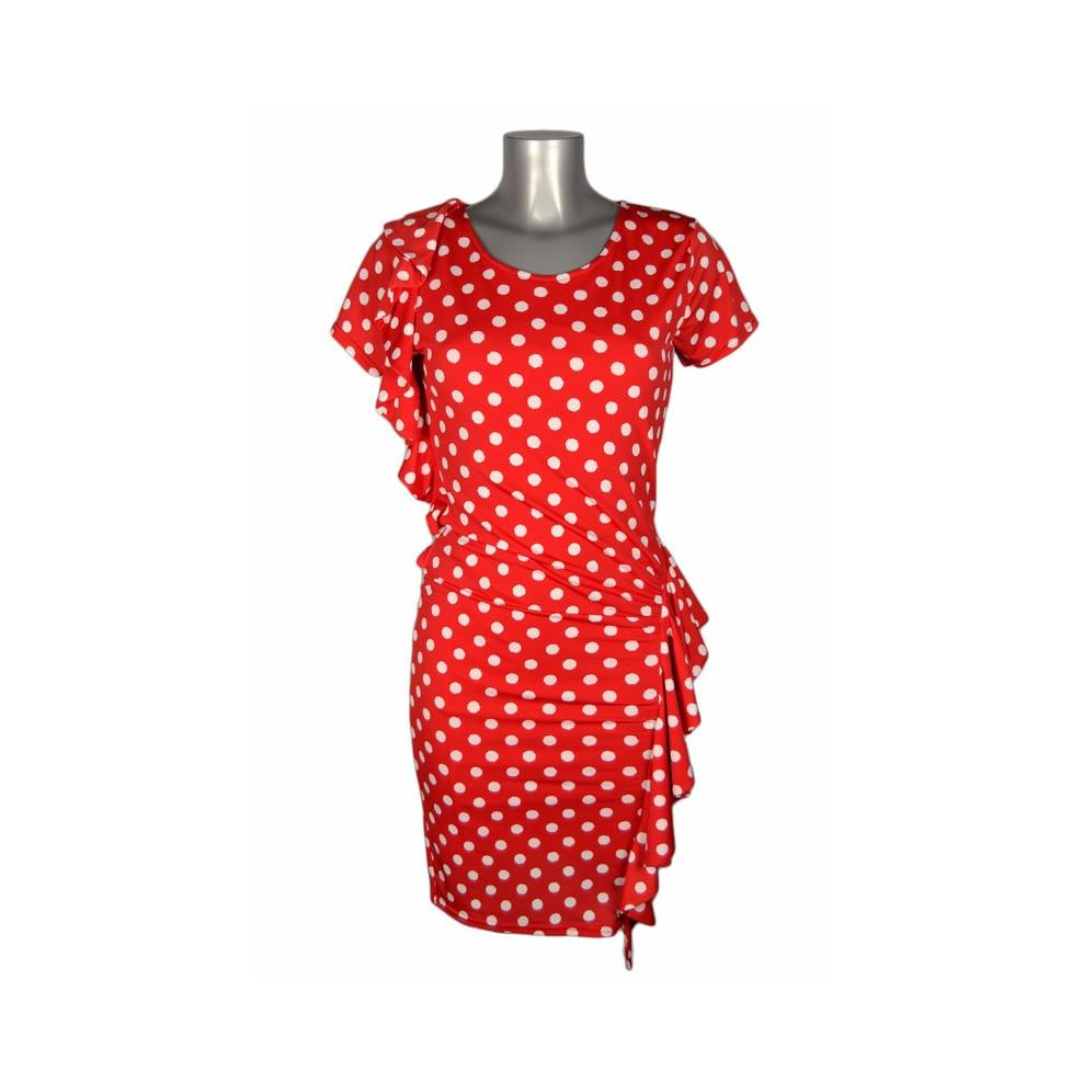 Robe esprit flamenco rouge pois blancs ShowGirls Melle Boutique - M ... 1f75d1cec81