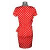 Robe esprit flamenco rouge pois blancs ShowGirls Melle Boutique
