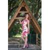Robe sexy décolleté dentelle rose coups de pinceaux Fifilles de Paris