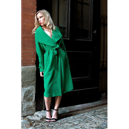 Trench long grand col vert Hippocampe