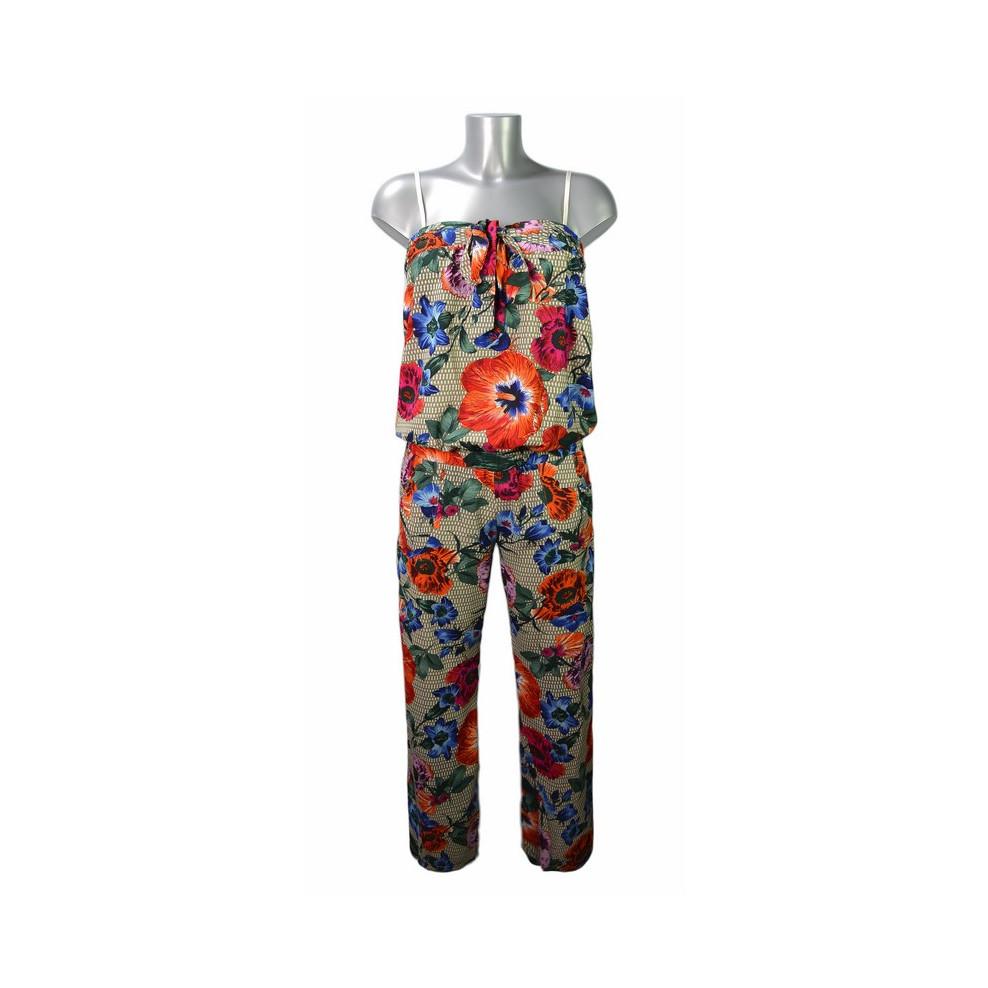 Combinaison style bustier motif fleurs tropicales ShowGirls 4e193e8dfb9