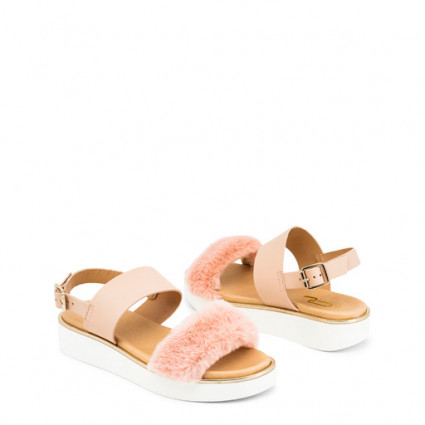 Chaussures sandales compensées rose clair Ana Lublin