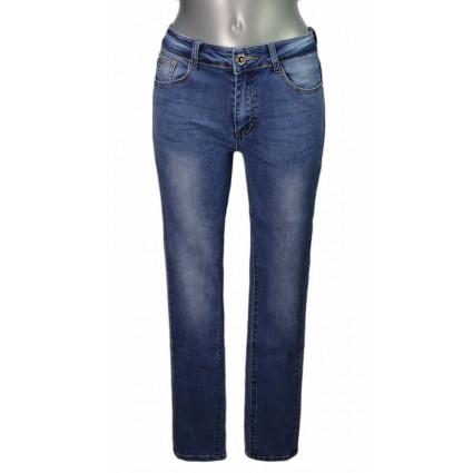 Jean bleu délavé simple taille normale