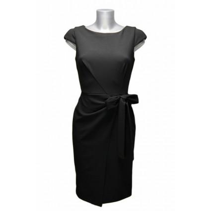 Robe crayon noire noeud drapé Rinascimento