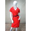 Robe rouge style vintage gros boutons bleus Rinascimento