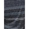 Robe droite noire bandes à pois côté noeud Fifilles de Paris