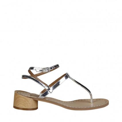 Sandales Ana Lublin lanières argentées