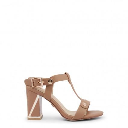 Sandales Ana Lublin lanières beige sable et pièces dorées