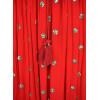 Robe longue rouge ronds dorés Goa