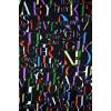 Robe trapèze noir motif lettres multicolores Hippocampe