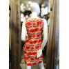 Robe trapèze blanche motif 70's orange Hippocampe