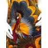 Robe trapèze wax jaune rouge motif coq Hippocampe