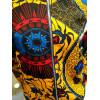 Veste bombers en wax jaune motif rouge et bleu Hippocampe