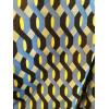 Veste bombers motif vagues bleu jaune noir Hippocampe