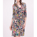 Robe cache-coeur motif python multicolore