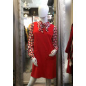 Robe droite esprit chasuble rouge Hippocampe