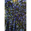 Robe froufrous voile fleurs bleues Goa