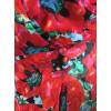 Haut cache-coeur voile motif gros coquelicots rouge Goa