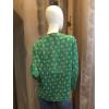 Haut blouse vert motif fleuri jaune Hippocampe
