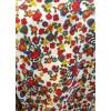 Robe style champêtre blanche fleurs rouges et jaunes Hippocampe