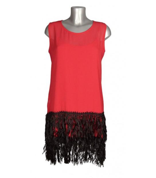 Robe esprit Charleston rouge et noir
