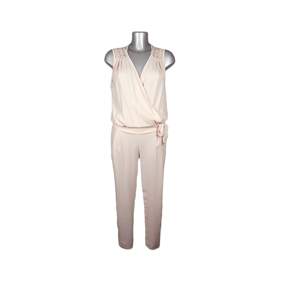 Combinaison cache coeur paules dentelle rose p le m 39 elle boutique - Combinaison rose pale ...