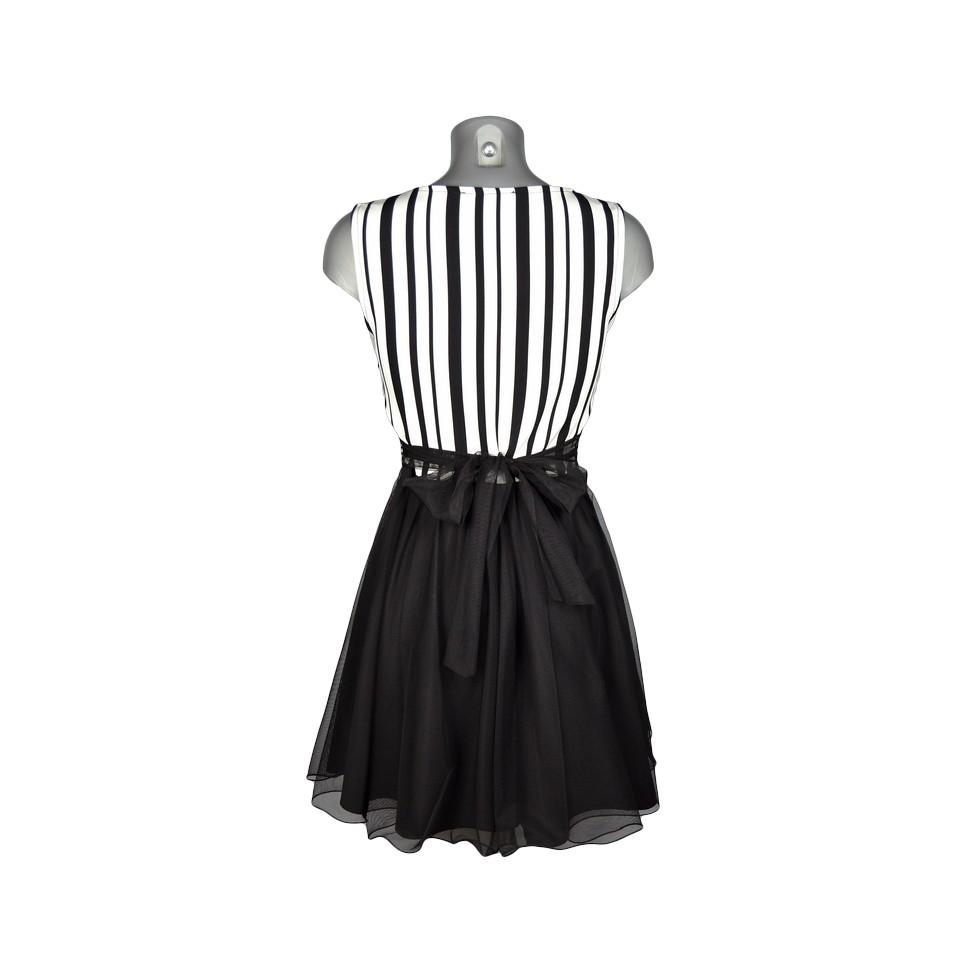 robe vas e haut ray noir et blanc bas tulle noir m 39 elle boutique. Black Bedroom Furniture Sets. Home Design Ideas